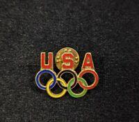 Gold Tone USA Olympic Rings Pin 14436