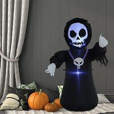 HOMCOM Calavera Fantasma De Aire Inflable Halloween Decoración Interior Exterior de vacaciones de soplado