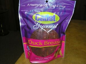 "Gourmet Duck Breast Jerky Strip Dog Treats, 14 Ounce ""Cadet""  New, Unopened"