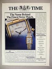Girard-Perregaux Chronometer Watch PRINT AD - 1983 ~~ watches, wristwatch