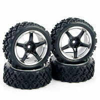 4Pcs Rally Tires Wheel 12mm Hex PP0104 For HSP HPI RC 1/10 Off Road Racing Car
