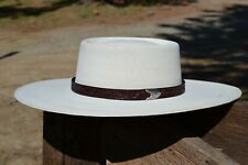 """3/4"""" Western Floral Carved Leather Hat Band Silver Tip Buckle - Cordovan Brown"""