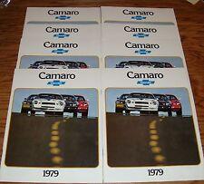 Original 1979 Chevrolet Camaro Sales Brochure Lot of 8 79 Chevy