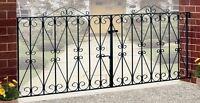 Regent Scroll Driveway Gates 7ft to 10ft GAP x 914mm H Wrought Iron Metal gate
