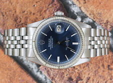 Gents Vintage Steel & Gold Gents Blue Dial Rolex Oyster Perpetual Datejust.