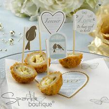 CAKE PICKS (Cupcake/Canape Sticks) - Vintage Birdcage/Wedding/Anniversary Party