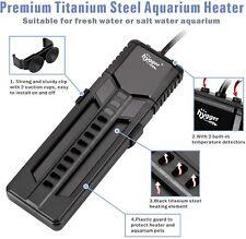 New listing Hygger 500W 800W Titanium Steel Aquarium Heater for Marine and Fresh Water, Digi
