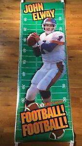 John Elway Vintage Poster Denver Broncos NFL Football Little Caesar Pizza Promo