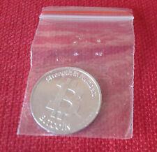 New Souvenir Plastic BIT COIN in small plastic bag, BITCOIN, Replica Novelty