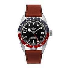 Tudor Black Bay GMT Auto 41mm Steel Mens Strap Watch Date 79830RB