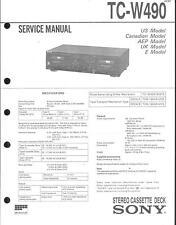 Sony Original Service Manual per TC-W 490 PLUS correction - 1
