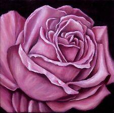 Jannys ART - Rose - Kunst Malerei handgemalt Öl Bild Leinwand Geschenk