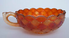 Carnival Glass Nappy Handled Mariglod Imperial Pansy Pattern