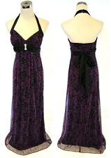 NWT ROBERTA $100 Purple / Black Formal Evening Gown S