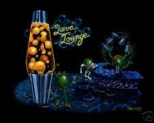 "**Michael Godard-""LAVA LOUNGE"" Martini-Olive-Cigar-Lamp-Art 28 x 35 SN Edition**"