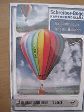 Heissluftballon Heißluftballon Schreiber-Bogen Kartonbausatz *NEU* Bastelbogen
