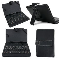 Black AZERTY French Keyboard Folio Case for ASUS Google Nexus 7, Nexus 7 Tablet