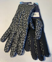 Women's Isotoner Grey Leopard smartDRI smarTOUCH Gloves New One Size