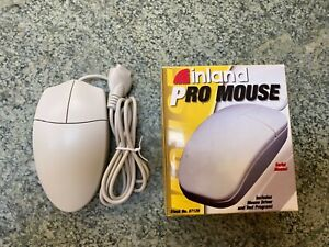Vintage Inland Pro Wired Serial Port 2-Button Mouse - NEW OLD STOCK NOS