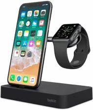 Belkin Ladestation mit Ladekabel für Apple Watch Series 3/2/1/iPhone X/8/7, Schw
