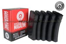 Socom Gear 190rd Troy Battle Mid-Cap Airsoft Toy Magazine For Marui AEG 5PC BK