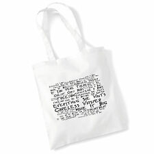 ART Studio Tote Bag WHAM! testi stampa ALBUM MUSICA Poster palestra spiaggia shopper regalo