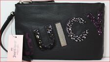 Juicy Couture Designer JUICY WRISTLET Clutch Purse - BLACK Sparkle 🌟NEW🌟
