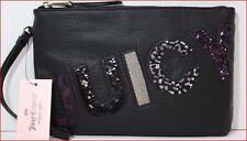 Juicy Couture Designer JUICY WRISTLET Clutch Purse bag - BLACK Sparkle 🌟NEW🌟