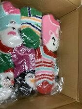 WHOLESALE LOT of 120 Casepack Cozy Christmas Socks Soft NEW