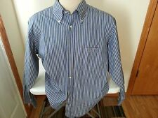 Lacoste blue, pink, green stripe long sleeve button down - mens 44