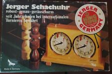 Vintage Jerger Schachuhr Chess Tournament Clock in Original Box Made In Germany