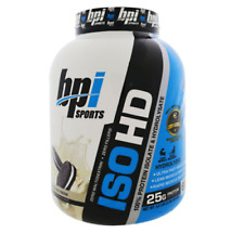 NEW BPI SPORTS ISO HD 100% WHEY PROTEIN ISOLATES & HYDROLYSATE COOKIES AND CREAM