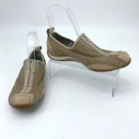 Merrell Barrado Sport Beige Shoes Women Size 7 Performance Zipper Athletic Flats