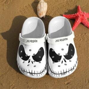 Jack Skellington Black and White crocs