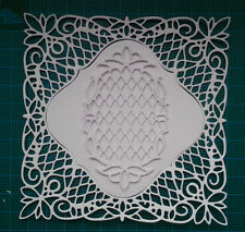 12 square frame doily paper die cut card topper Tattered Lace vintage