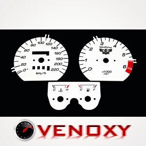 Honda GL 1500 Goldwing KM/H Aftermarket Instrument Cluster White Gauge Faces