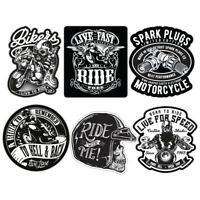 Biker Sticker Set Motorcycle Motorbike Vintage Custom Bobber Chopper Retro Decal