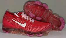 NEW Nike Air Vapormax Flyknit 3 Women's Size 6.5 Track Red Pink White CU4756-600