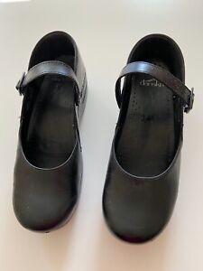 Dansko Marcelle Mary Jane Clog Black Leather
