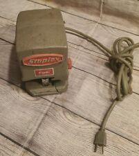 Vintage Industrial Mid Century Staplex Electric Stapler Model Sjm 1 Works
