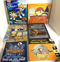 🔥Lot 6 Kids Halloween Books Paw Patrol Charlie Brown Pooh Curious George Sniff