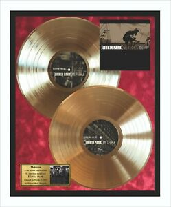 Linkin Park Meteora Vinyl Gold Metallized Record Mounted In Frame