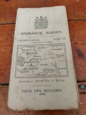 Antique Cloth Ordnance Survey Map Of Manchester Stockport Oldham Area 1913