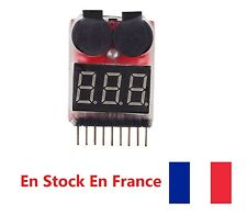 1-8S Lipo/Li-ion/LiMn/Li-Fe Battery Voltage Tester Low Voltage Buzzer Alarm