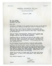 """Suspicious 1942 Babe Ruth """"Accident"""" Letter SIGNED by Christy Walsh - Goldwyn"""