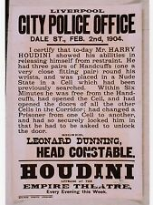 "*Postcard-""-AD-""Houdini Dare Escapes From Jail Cell"" /Signed by Constable/ (B63)"