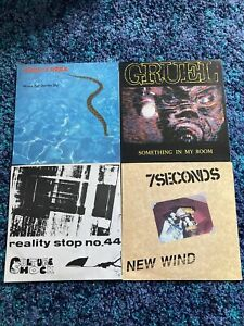 4 X Post Punk And Hardcore Punk Vinyl Record Bundle