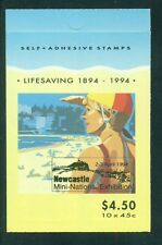Australia 1994 Newcastle Exposition Overprint Lifesaving Booklet Sb 53