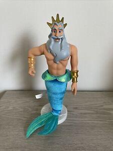 Disney King Triton Doll The Little Mermaid Ariel's Father Rare HTF