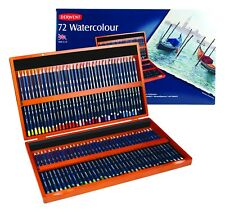 Derwent Professional Quality Watercolour Pencils Wooden Box of 72 Colours